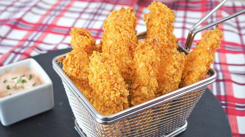 como se hace pollo crujiente con doritos al horno