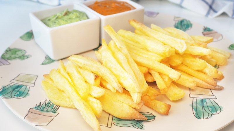 como hacer patatas fritas, al horno, al microondas