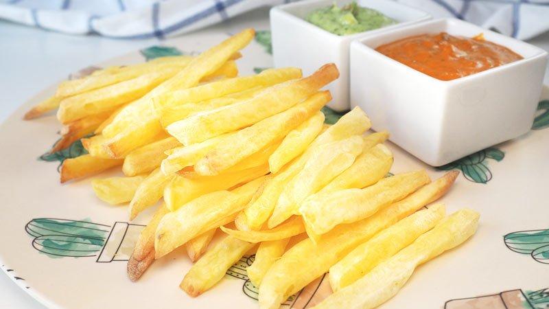 receta como se hacen patatas fritas, al horno, al microondas