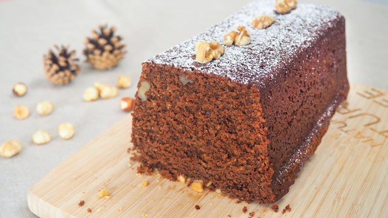 como se hace bizcocho de chocolate con harina integral y frutos secos