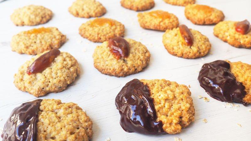 receta de galletas de avena con chocolate paso a paso