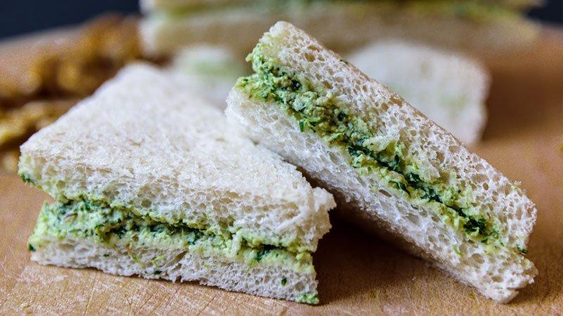 receta sandwich facil de canonigos