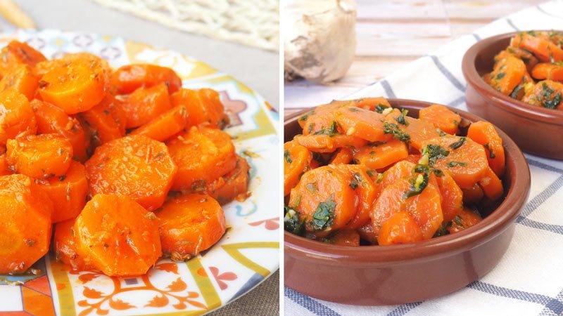 zanahorias aliñadas de forma fácil