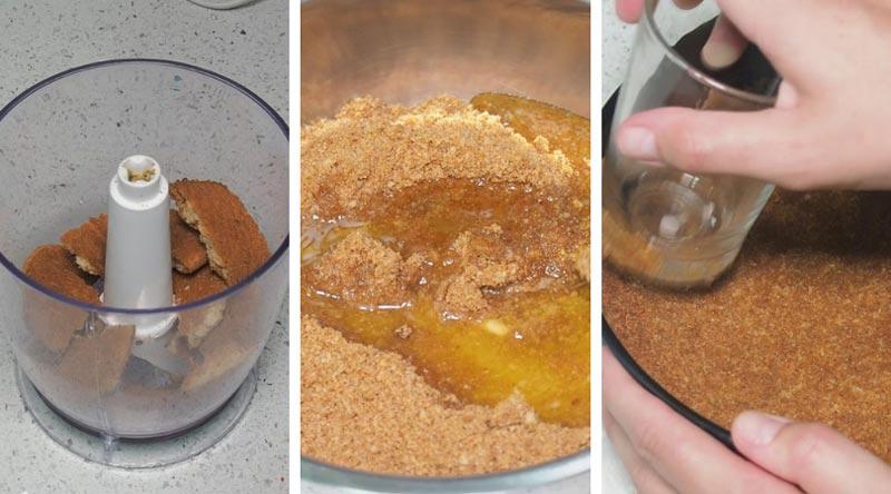 como hacer base de galletas para tartas y postres