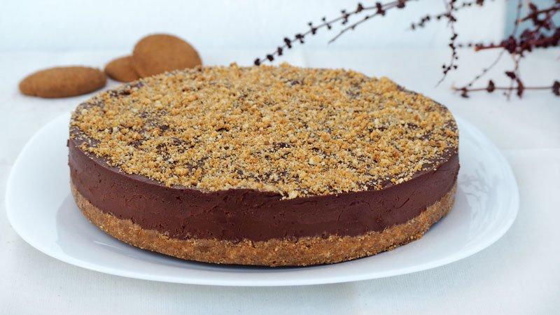 como preparar una tarta de galletas y chocolate o tarta de cumpleaños