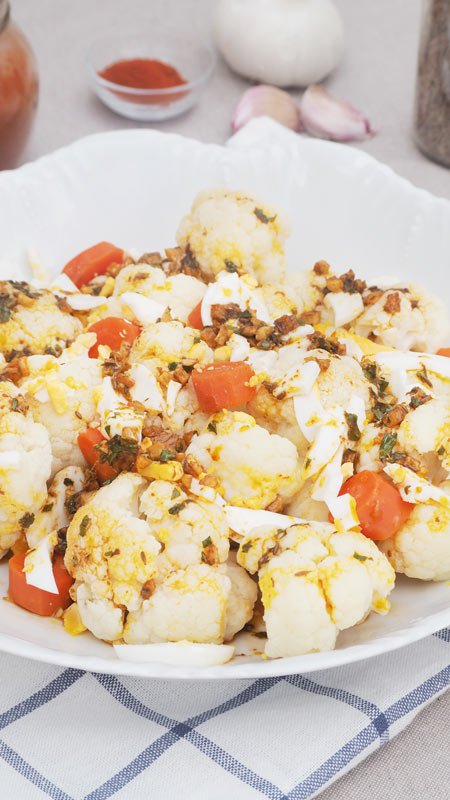 receta de ensalada de coliflor o aliño de coliflor