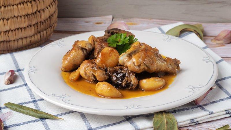 como se hace el pollo al ajillo estilo andaluz