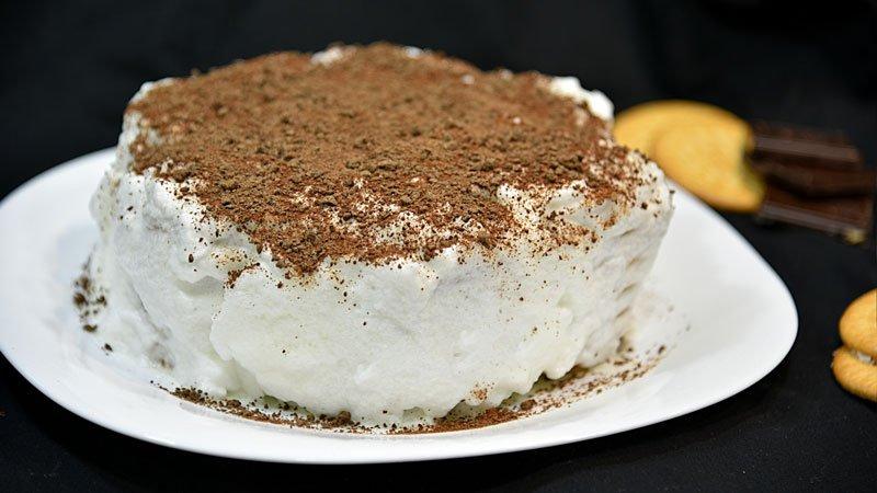 la mas rica tarta de galletas con chocolate
