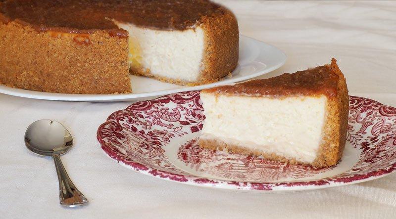 Tarta de Queso de Cabra Payoyo con Dulce de Membrillo receta dulce