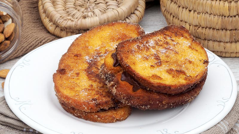 torrijas rellenas de chocolate receta dulce para semana santa