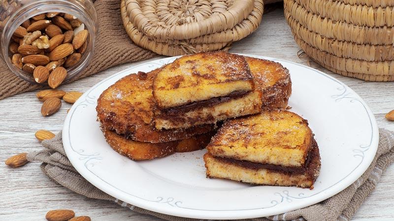 receta de torrijas rellenas de chocolate
