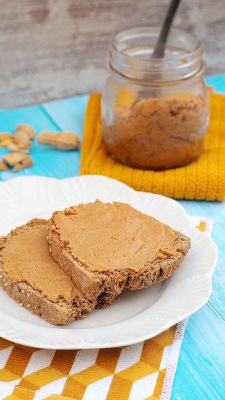 mantequilla o crema de cacahuetes paso a paso