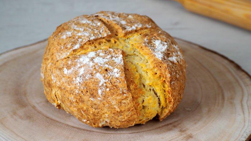 paso a paso pan rapido sin levadura y sin masa madre