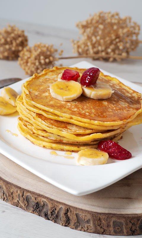 receta de tortitas, panqueques o pancakes