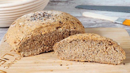 como se hace el pan integral casero con levadura fresca y seca