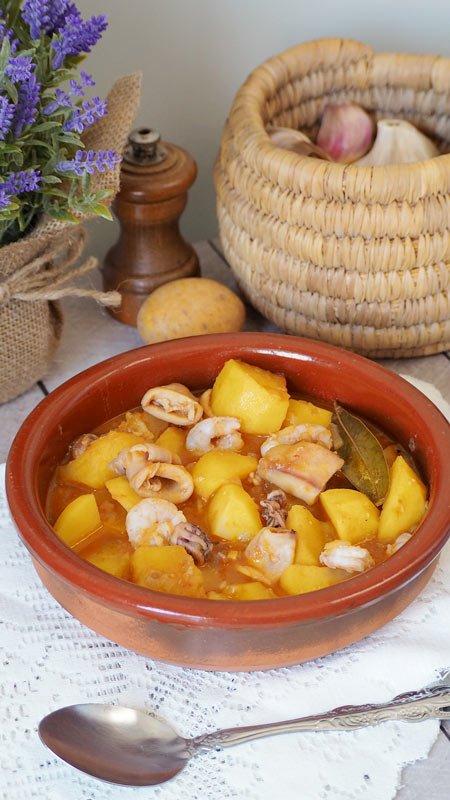guiso de patatas a la cazuela