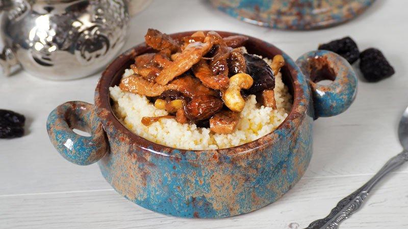cuscus con pollo al pedro ximenez receta deliciosa