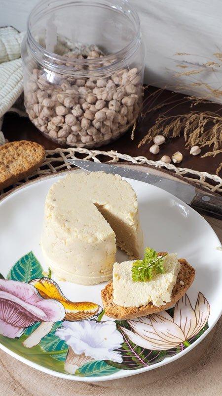 falso queso vegano de garbanzos receta