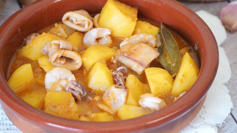 receta de patatas a la cazuela