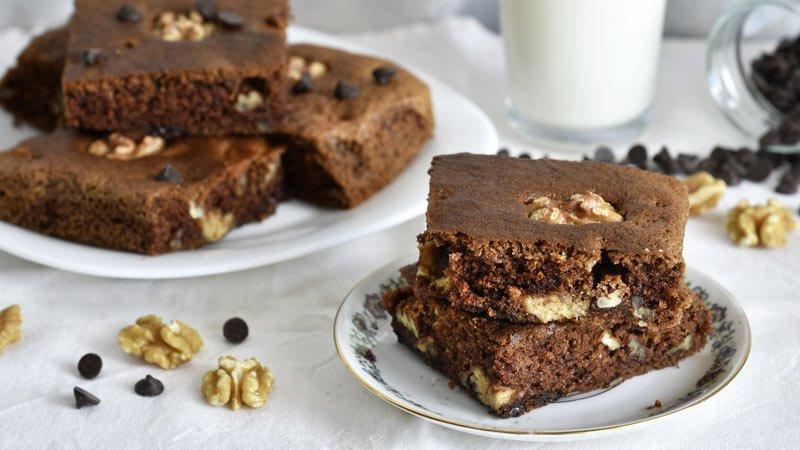como hacer brownie de crema de avellanas y chocolate