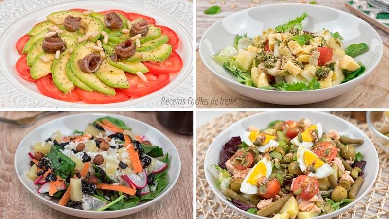recetas de 4 Ensaladas originales y sanas y variadas