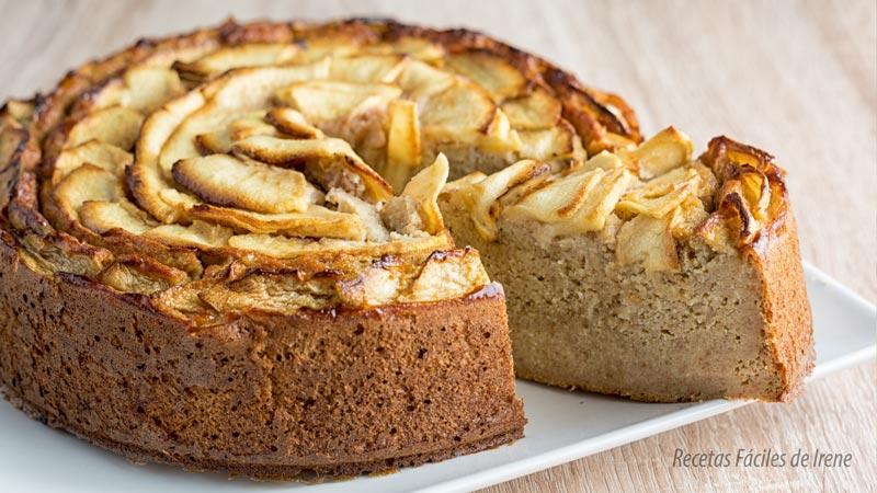 receta dulce de tarta de manzana y dátiles