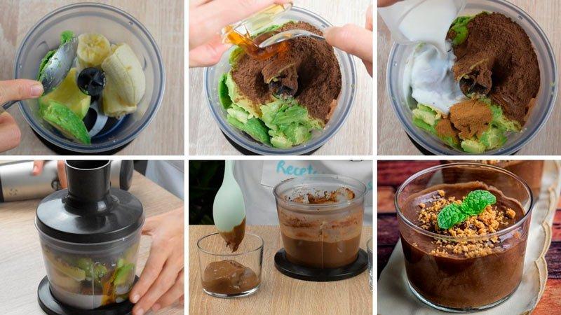 receta paso a paso postre de chocolate facil en vasitos