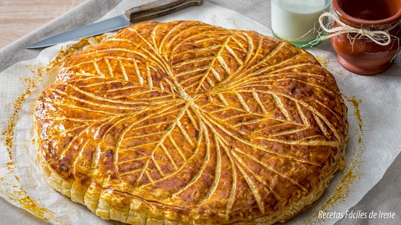 tarta de reyes o galette de rois paso a paso