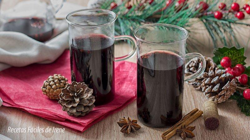 como hacer vino caliente especiado o vino dulce caliente