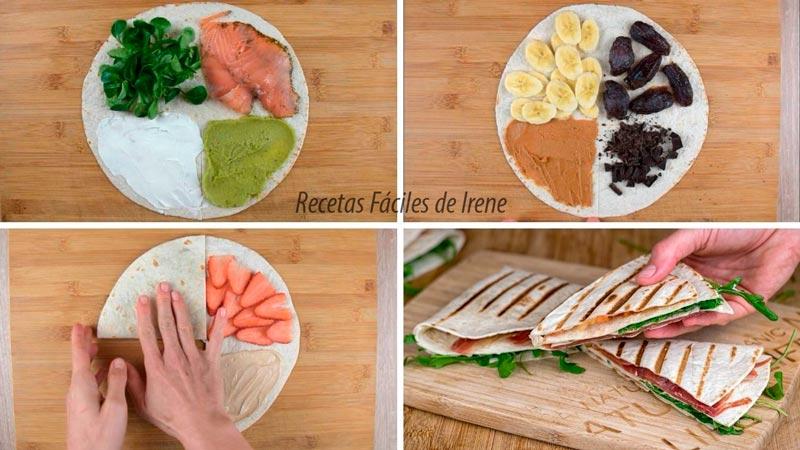 4 recetas de tortillas wraps hack virales tiktok
