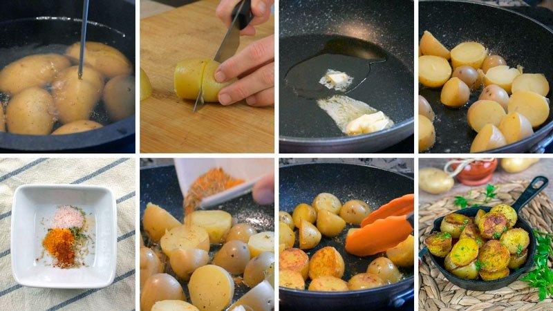como hacer patatas especiadas sin freir