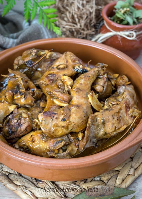 receta de conejo en salmorejo salsa facil