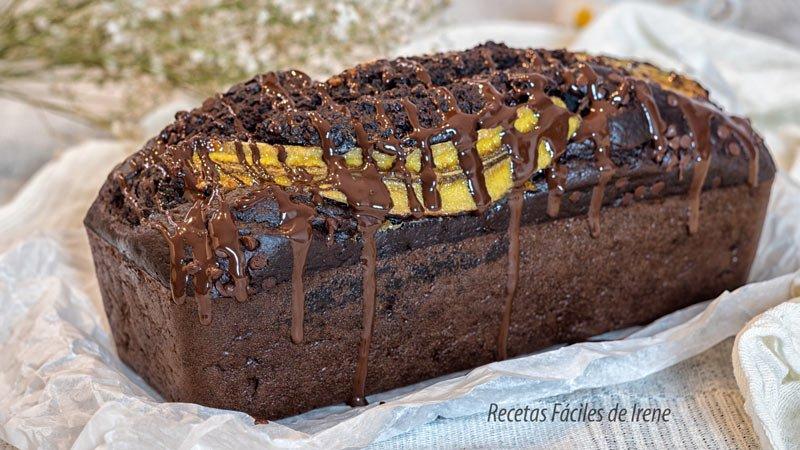 receta pan de platano y chocolate saludable al horno