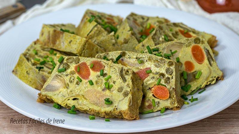 pastel de menestra de verduras en conserva