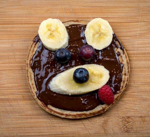 tortitas saludables con frutas para niños