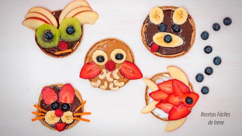recetas tortitas saludables con frutas para niños