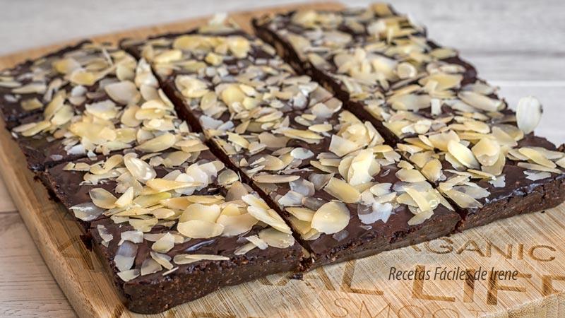 brownie sin horno saludable paso a paso