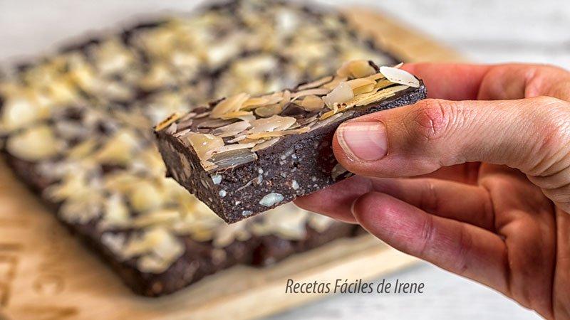 como se hace el brownie sin horno y saludable paso a paso