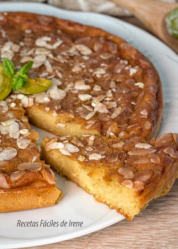 tarta fácil de ciruelas claudias perfecta
