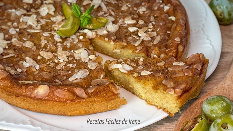 deliciosa tarta fácil de ciruelas claudias