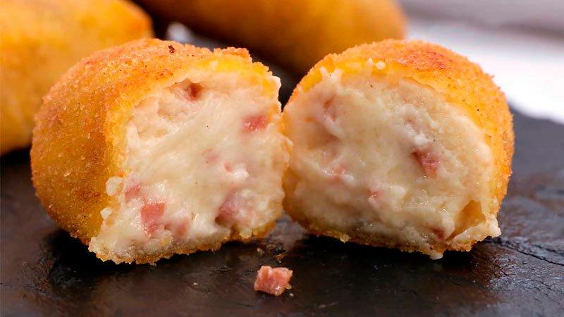 receta de croquetas cremosas de jamón serrano y queso mozzarella