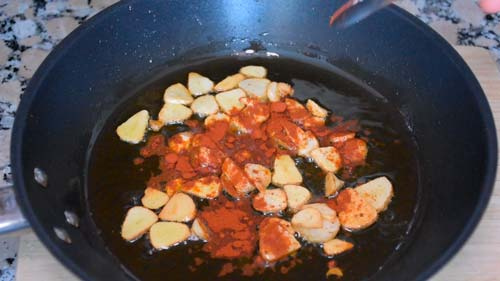 preparar la salsa para el bacalao a la gallega