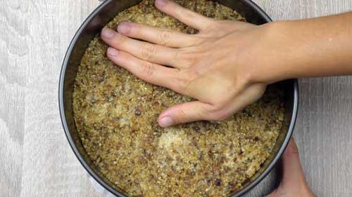 base para la tarta de queso y frambuesas saludable