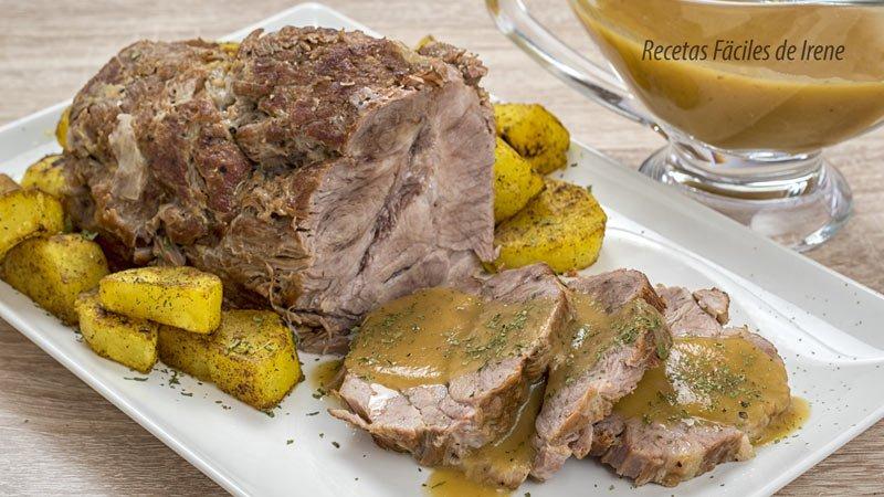 receta de carne de lomo en olla rápida con salsa de naranja y brandy facil