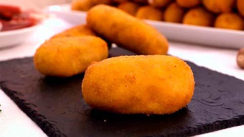 como hacer croquetas cremosas de jamón serrano y queso mozzarella