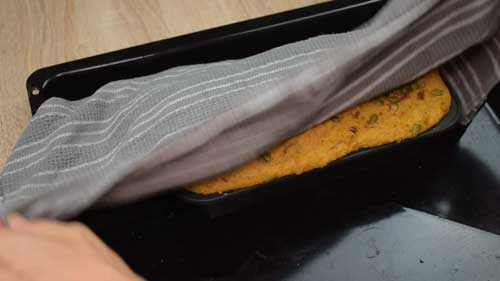 reposar la masa de pan hasta que doble su volumen