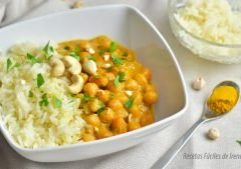 receta facil de curry de garbanzos