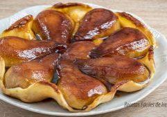 receta tarta de pera facil